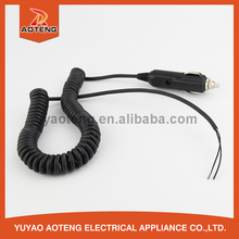 car charge cable with 12V or 24v dc 5521jack.DC plug wire .DC car charger line power cable