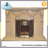 Factory wholesale cheap freestanding indoor used marble fireplace mantel
