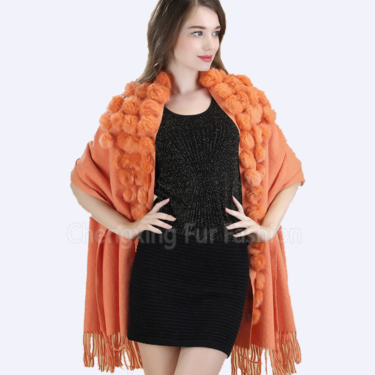 CX-B-P-68B Wholesale Cheap Knitted Cashmere Winter Scarf Shawl