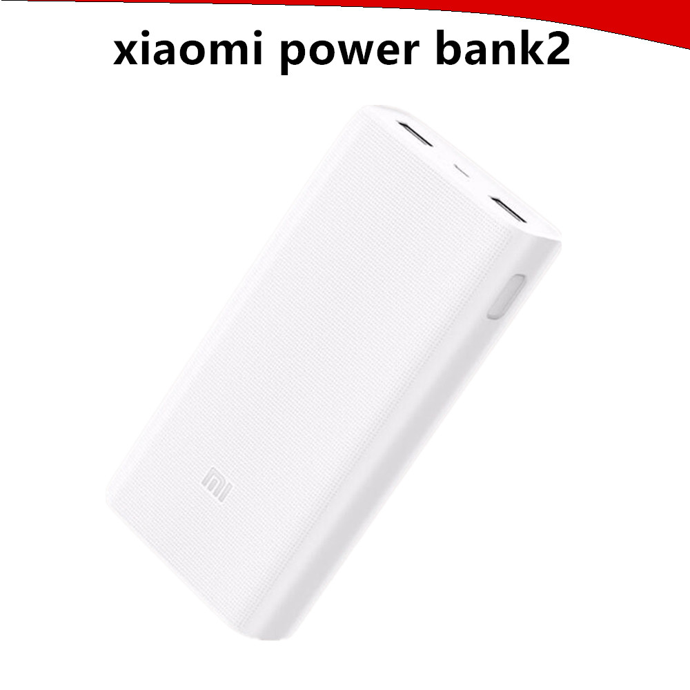 Original Xiaomi Power Bank 2 20000mAh Portable Charger Dual USB Mi Powerbank External Battery Pack for Iphone Huawei Samsung