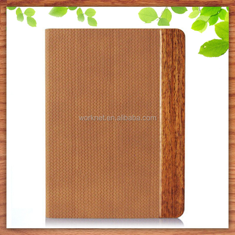 2016 new design flip leather stand cover case for iPad mini accessories, for wood ipad mini 4 leather case
