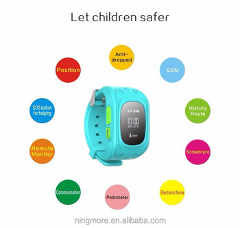 2017 Hot sale free app gps kids watch for tracking watchkids