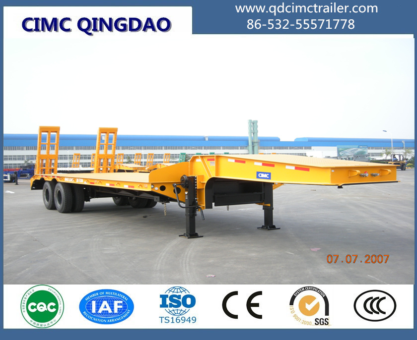 2 axles 40ton lowbed trailer for sale in nigeria