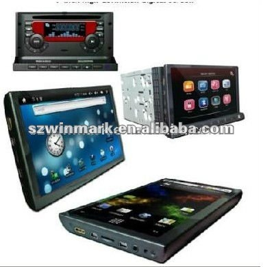 "7""Double Din digital HD/in dash android car PC,DM-7033 car PC"