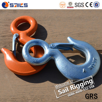 Qingdao Sail Rigging Steel Drop Forged 1/2T Eye Hook with latch