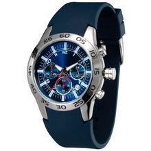 2015 high end quality BLUE silicone band vogue mens watch