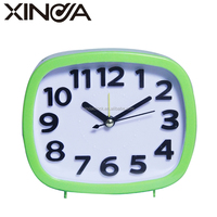 new cheap table clock with light for promotional gift