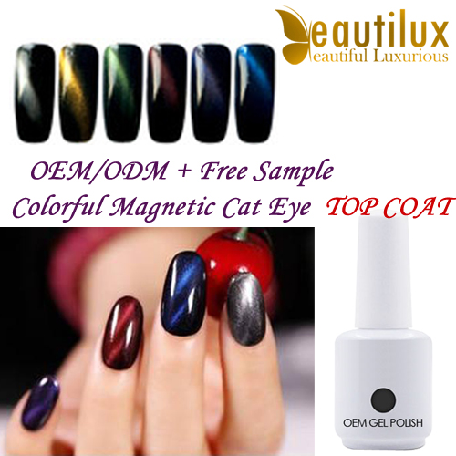2017 HOT foil transfer cat eye gel nail polish chameleon nail polish gel