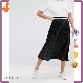 customize high quality black lady skirt,hot selling long pencil skirt
