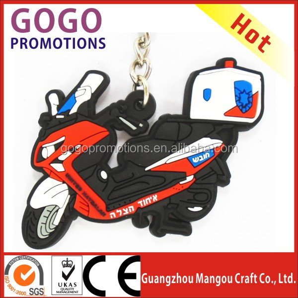 Cool Promotional gift cheap custom fashion keychain / rubber soft pvc key chain, cheap OEM motorcycle shaped soft pvc key chain