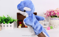 dolphin shape Plush toy animal hand puppet shape baby placate toy telling story birthday gift