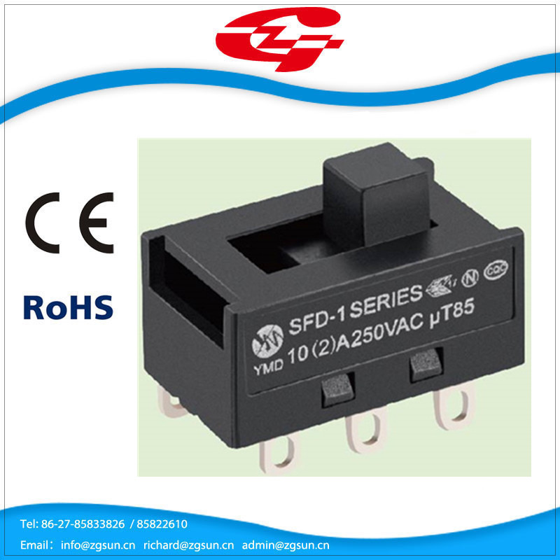 High quality 10A 250V 8 pins slide switch for electrical appliance