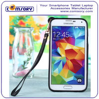 2014 fashionable design Sling Card Slot Holder Wallet Leather Protector Case for Samsung Galaxy S5 i9600