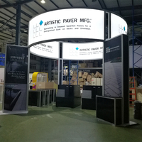 Detian Display offer 6x6 island trade fair exhibition booth for USA clients, portable booth expo stand