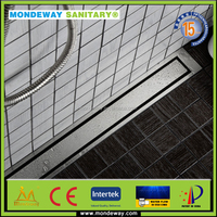 Popular Used HOT SALES In Stainless Steel304 Bathroom Conerte Channel Drains/plastic floor drain/drainage pipes from Mondeway