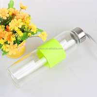Private label water cup factory custom made decorative pyrext travel borosilicate glass bottles for drinking water