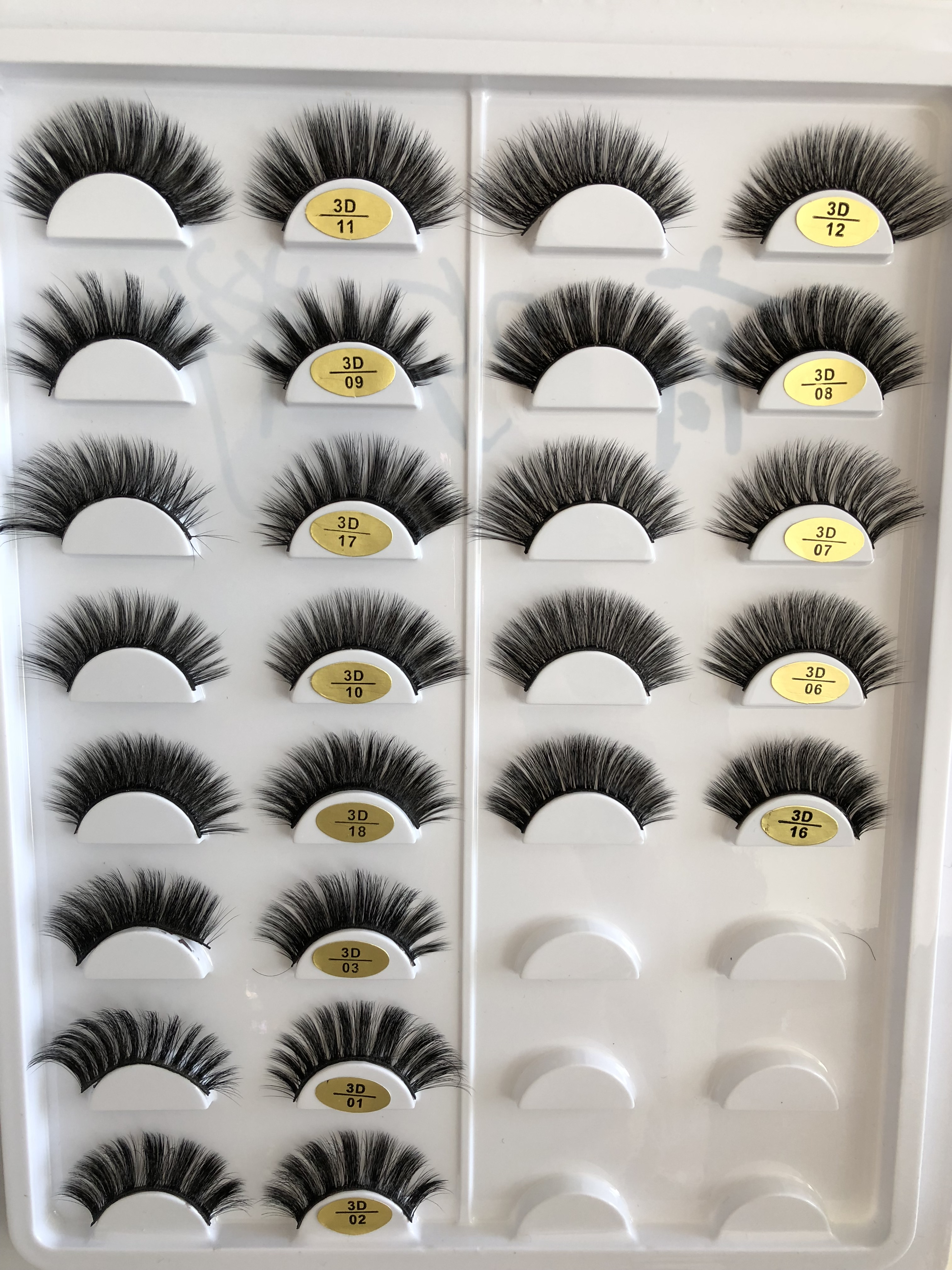 100% private label hand made false silk eyelashes 3d