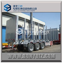 2015 Manufacture vehicle car transport truck trailer timber transport wagon for sale
