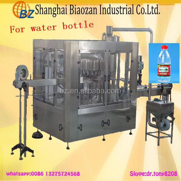 China maker bottle filling capping and labeling machine for alcohol beverage