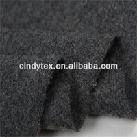 14s charcoal yarn dyed brushed flannel synthetic wool fabrics