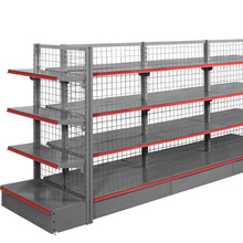 Foshan factory classical tyle mesh backpanel supermarket <strong>shelf</strong>