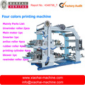 Four color printing machine for plastic bag
