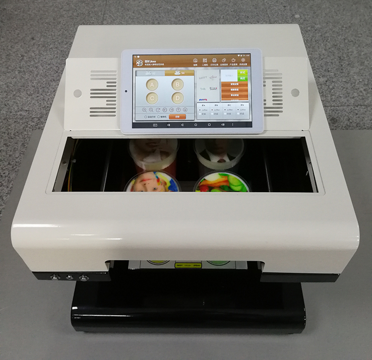 4 Cups Android System Cappuccino 3d Let's Edible Cake Selfie Latte Art Printing Machine Coffee Printer Face Machine Price