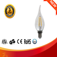 High quality candle shaped 2W 3W 120V E12 E14 200LM led filament bulb led candle light