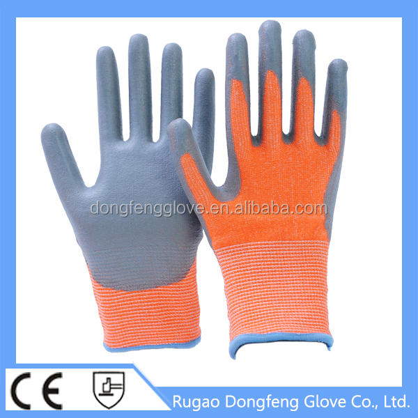 Best - Selling 13 Gauge HPPE Abrasion & Cut Resistant PU Coated Fisheries Work Gloves / Anti-cut Safety Equipment Glove