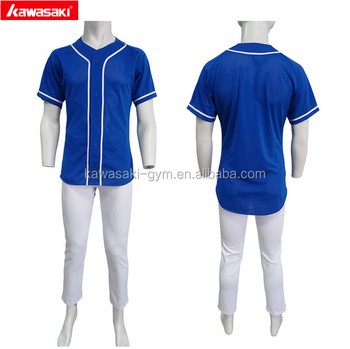 super quality oem custom blue color baseball jersey wholesale for man