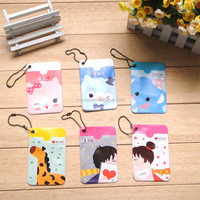 PVC plastic credit id card holder for business and gift