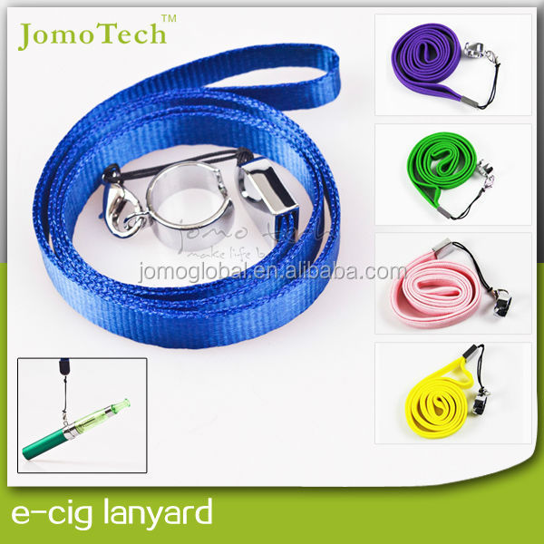 durable leather material eciga ego lanyard, mod necklace for ego battery ego lanyard ring clips