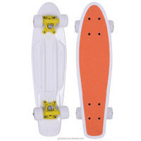 2206A-2UC5036 22x6inch 4 PU wheel plastic skateboard with PP deck