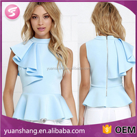cheap wholesale modern girls clothing high neck designs for ladies dress tops