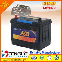 Good Price NS70MF Japanese Car Battery 12V 65Ah