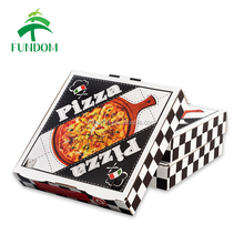 "alibaba china market wholesale 6"" 8"" 9"" 10"" 12"" 14"" 16"" take out white pizza box with black logo printing"