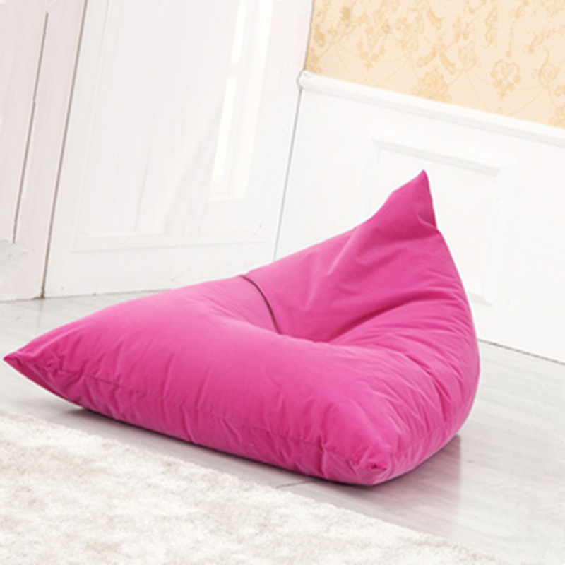 Cotton Bean Bag Triangle Safa And Can Print Patten Soft Bed