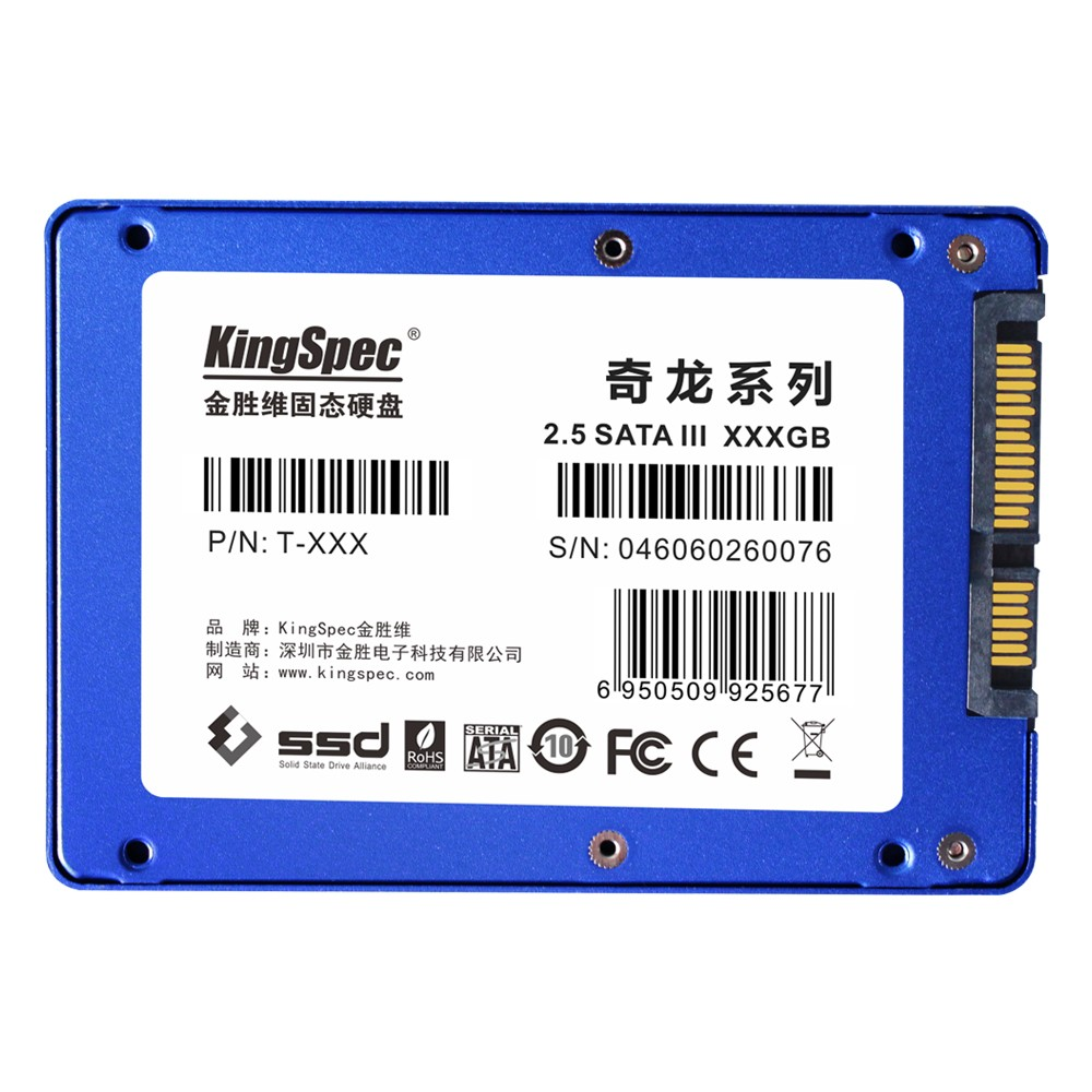 "Kingspec 2.5"" SATAIII SSD 480GB solid state drive SSD for Industrial PC/Server E3000 R/W: 500/489MB/s"