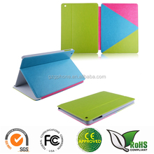 New design color mixture design stand leather case for ipad air