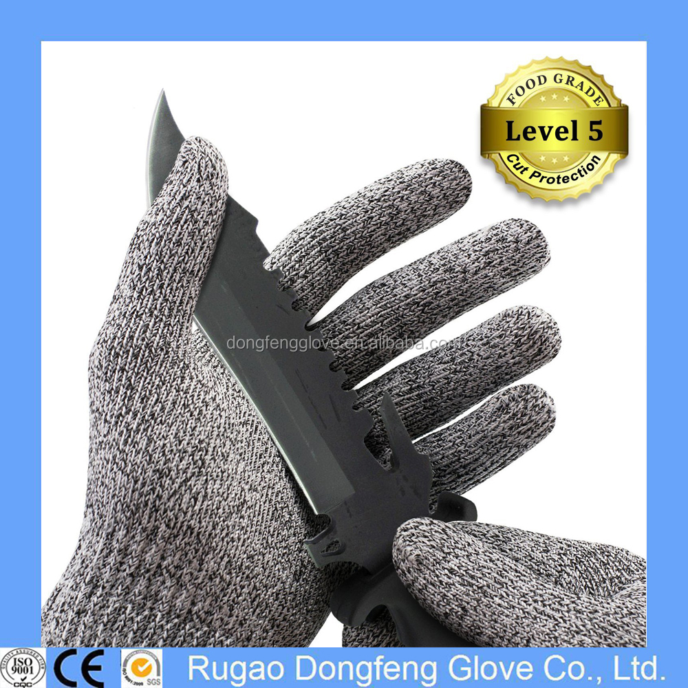 Cut Resistant Gloves - High Performance Level 5 Cut Protection Food Grade Kitchen Cooking Gloves -Safety Work Hand Protection