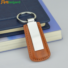 Promotion leather key chain for car and bags