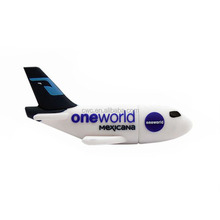 Promotional gift airplane usb flash drive 4GB 8GB 16GB 32GB pendrive with customized logo
