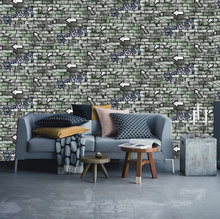 wholesale vinyl 3d effect brick wallpaper