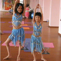 Blue Children Belly Dance Costumes for Performance and Practice