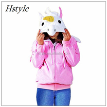 Adult Women Cosplay Jacket Coat Long Sleeved Rainbow Dash Unicorn Costume Hoodies Horse Sweatshirts In Spring Autumn HFH021
