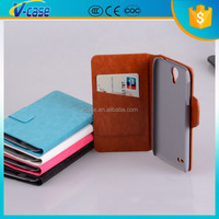 Hot selling unique design Leather Mobile phone flip cover case for Lenovo S860