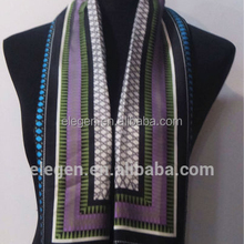 Double Layer Silk feel Printing Long Scarf
