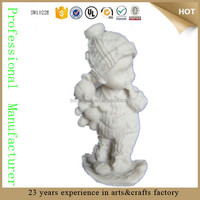wholesale custom unpainted resin figurines unpainted christmas ornament figure