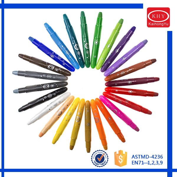 Non-duplicate 24 Vivid Colors Solid Wax Crayon Set