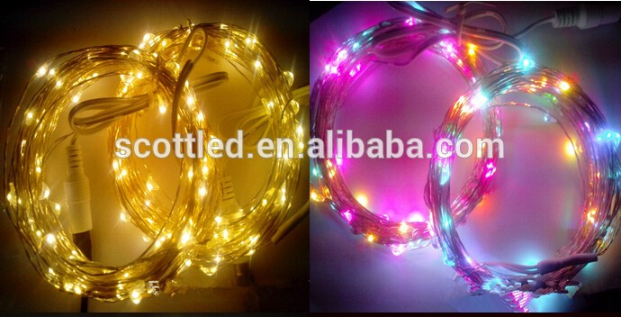 Copper wire led 1m 2m 3m 4m 5m 10m 20m 30m 50m LED string lights Christmas fairy twinkling decorative light